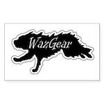 wazgearfasterblacklogoce Sticker (Rectangle 50 pk)