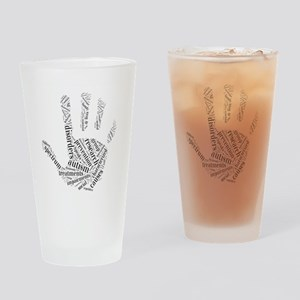 Autism - Talk To The Hand Drinking Glass