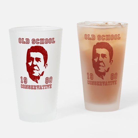 Old School Conservative Drinking Glass