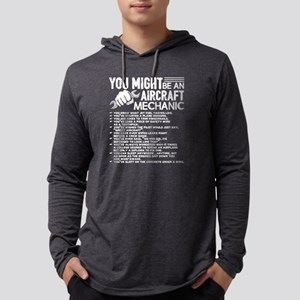 AIRCRAFT MECHANIC SHIRT Mens Hooded Shirt