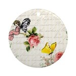 Vintage fairy garden Ornament (Round)