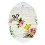Vintage fairy garden Ornament (Oval)