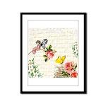 Vintage fairy garden Framed Panel Print