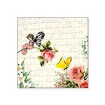 Vintage fairy garden Square Sticker 3