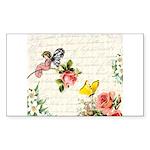 Vintage fairy garden Sticker (Rectangle 50 pk)