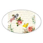 Vintage fairy garden Sticker (Oval)