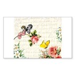 Vintage fairy garden Sticker (Rectangle)