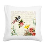 Vintage fairy garden Square Canvas Pillow