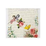 Vintage fairy garden Throw Blanket