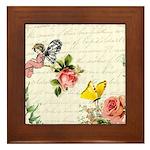 Vintage fairy garden Framed Tile