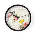 Vintage fairy garden Wall Clock