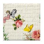 Vintage fairy garden Tile Coaster