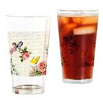 Vintage fairy garden Drinking Glass