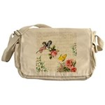 Vintage fairy garden Messenger Bag