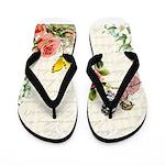 Vintage fairy garden Flip Flops
