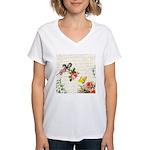 Vintage fairy garden Women's V-Neck T-Shirt