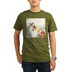 Vintage fairy garden Organic Men's T-Shirt (dark)
