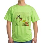 Vintage fairy garden Green T-Shirt
