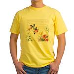 Vintage fairy garden Yellow T-Shirt