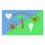 Flag Sticker (Rectangle 50 pk)