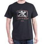 Jolly Roger Pirate Booty Black T-Shirt
