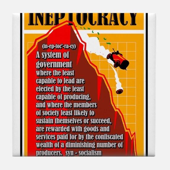 Ineptocracy Tile Coaster