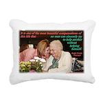 'Beautiful' Rectangular Canvas Pillow