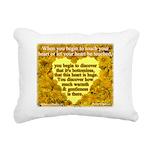 'Courage' Rectangular Canvas Pillow