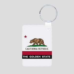California State Flag Aluminum Photo Keychain