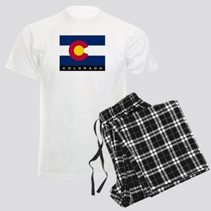 Colorado State Flag Men's Light Pajamas