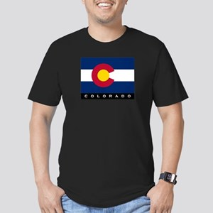 Colorado State Flag Men's Fitted T-Shirt (dark)