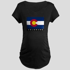 Colorado State Flag Maternity Dark T-Shirt