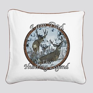 Dad hunting legend Square Canvas Pillow