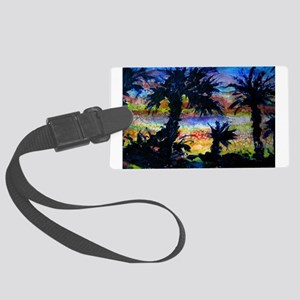 Palm trees! Nature art! Large Luggage Tag