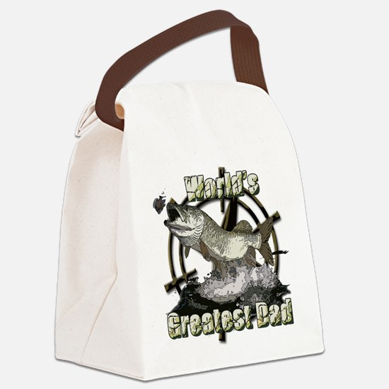 Fishing dad 2 Canvas Lunch Bag