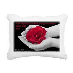 'Give' Rectangular Canvas Pillow