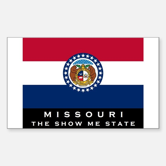 Missouri State Flag Sticker (Rectangle)