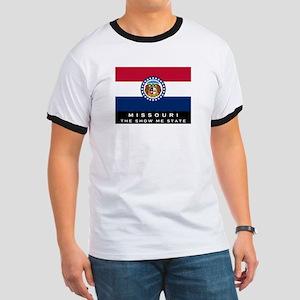 Missouri State Flag Ringer T