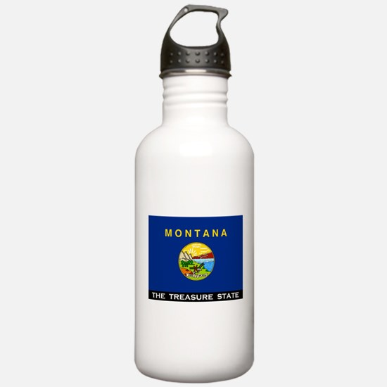 Montana State Flag Water Bottle
