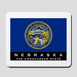 Nebraska State Flag Mousepad