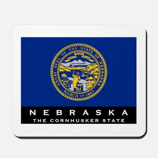 Nebraska State Flag Mousepad