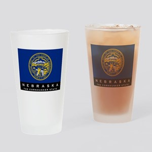 Nebraska State Flag Drinking Glass