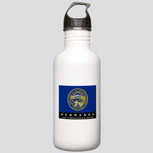 Nebraska State Flag Stainless Water Bottle 1.0L