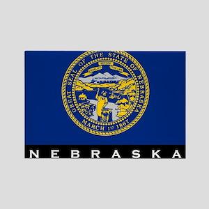 Nebraska State Flag Rectangle Magnet