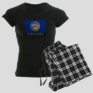 Nebraska State Flag Women's Dark Pajamas