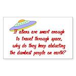 aliens Sticker (Rectangle 50 pk)
