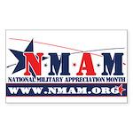 newNMAM Sticker (Rectangle 50 pk)