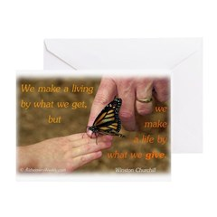 'Butterfly' Greeting Card