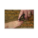 'Butterfly' Rectangle Magnet (10 pack)