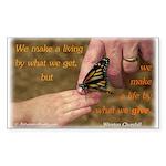 'Butterfly' Sticker (Rectangle 10 pk)
